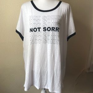 Torrid Not Sorry Retro Style Trimmed T-shirt 3XL